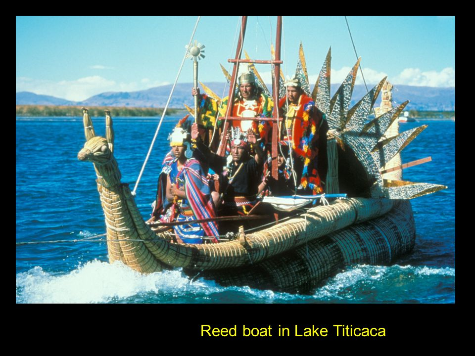 Reed boat in Lake Titicaca