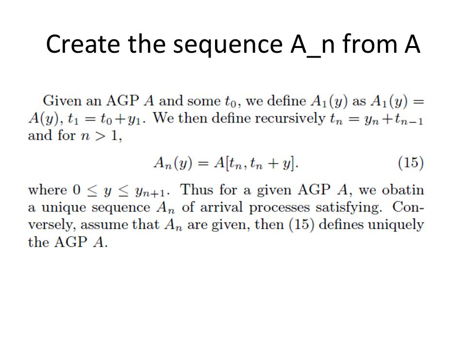 Create the sequence A_n from A