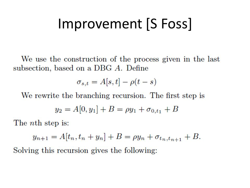 Improvement [S Foss]