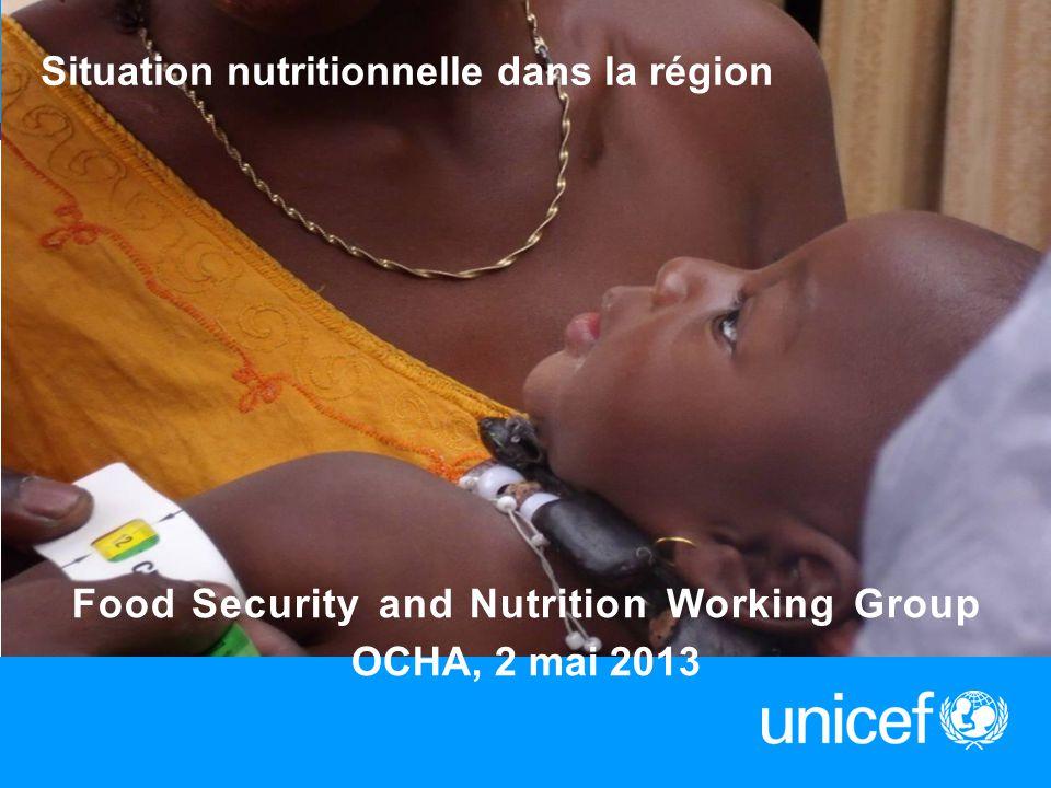 Situation nutritionnelle dans la région 1 Food Security and Nutrition Working Group OCHA, 2 mai 2013