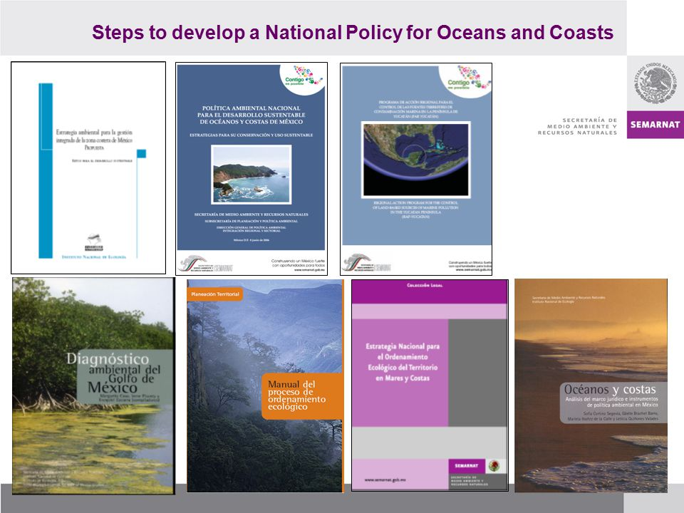 Steps to develop a National Policy for Oceans and Coasts