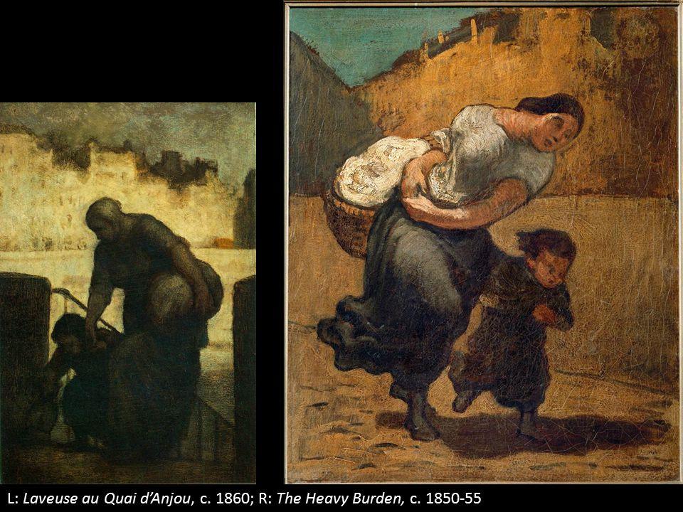 L: Laveuse au Quai d'Anjou, c. 1860; R: The Heavy Burden, c. 1850-55