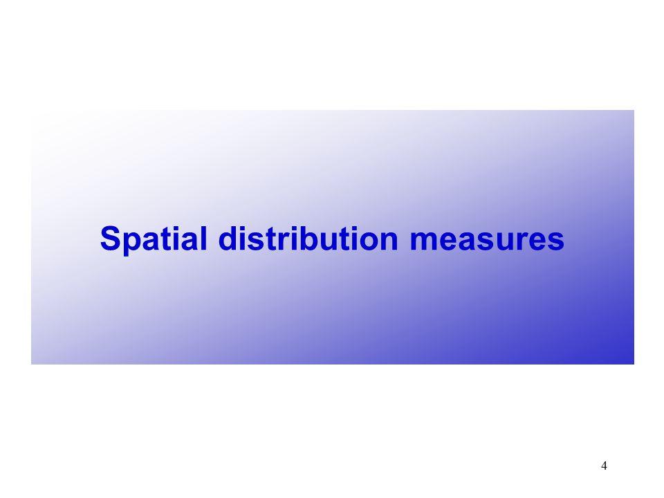 4 Spatial distribution measures