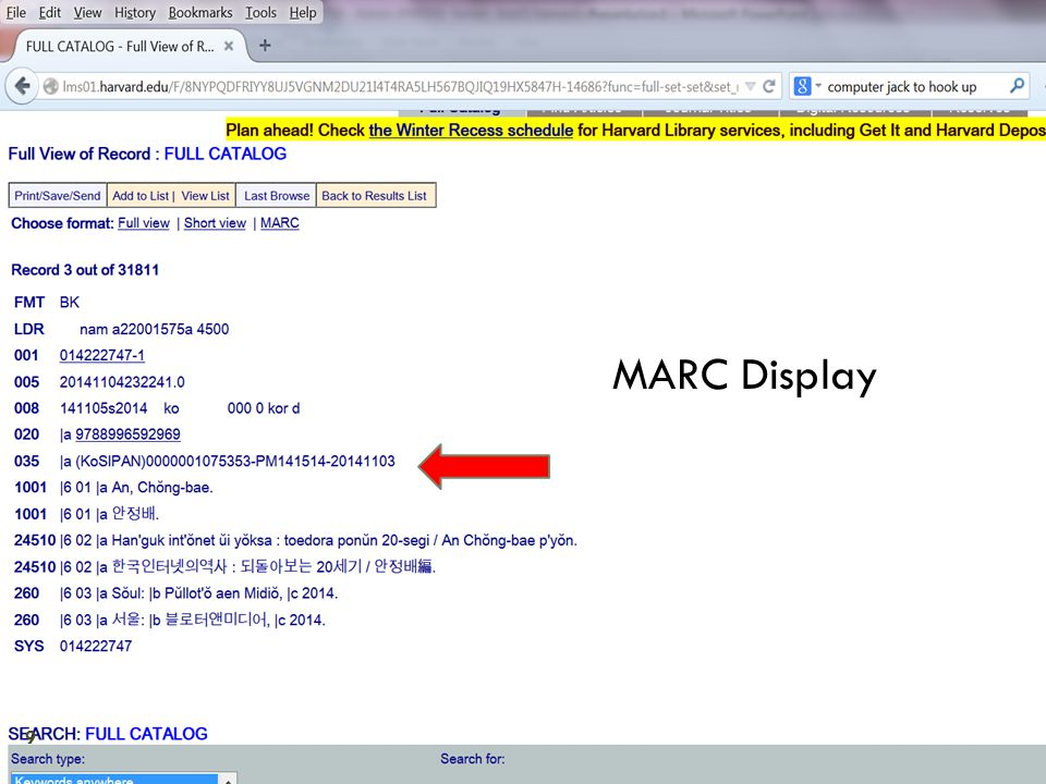 Item Status display in OPAC 10