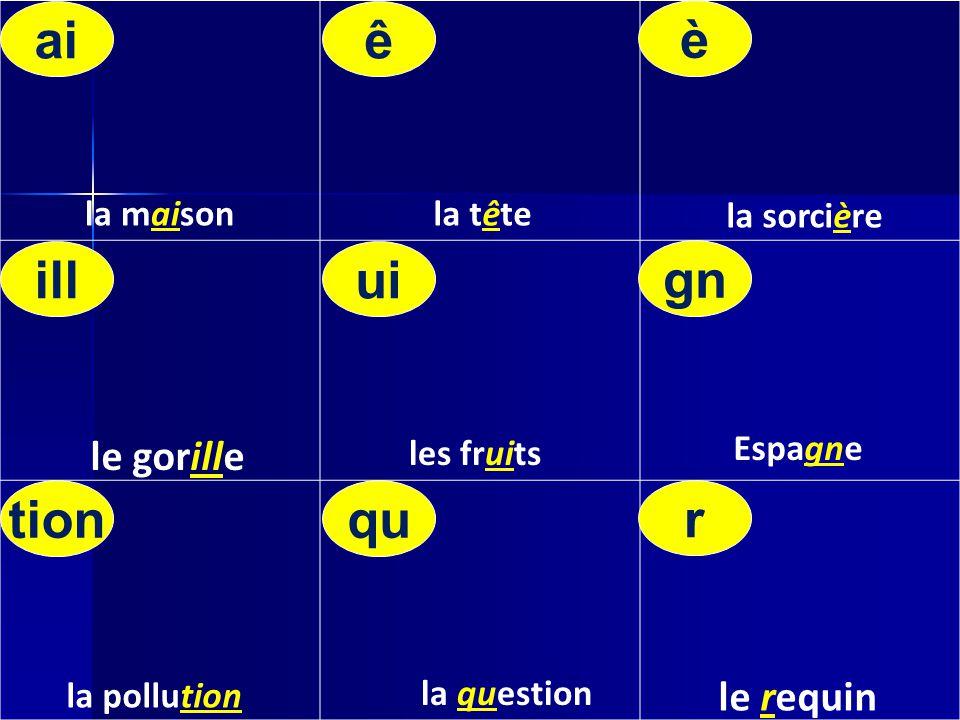 la maisonla tête la sorcière les fruits Espagne la question la pollution tionqu r illui gn aiê è le requin le gorille