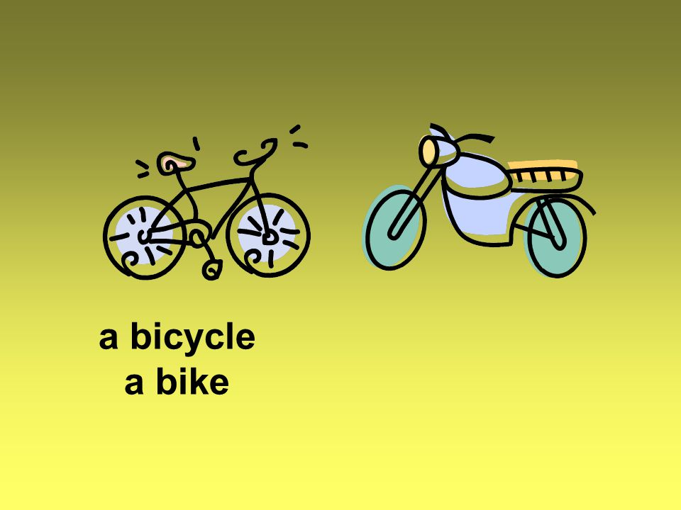 a bicycle a bike