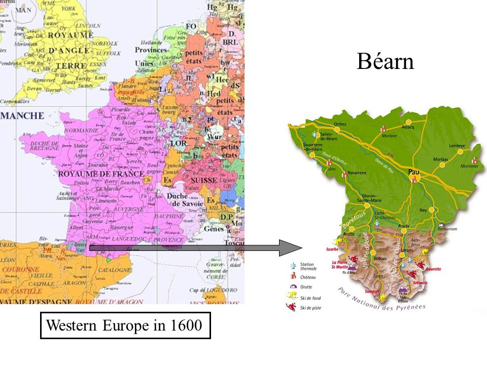 Béarn Western Europe in 1600