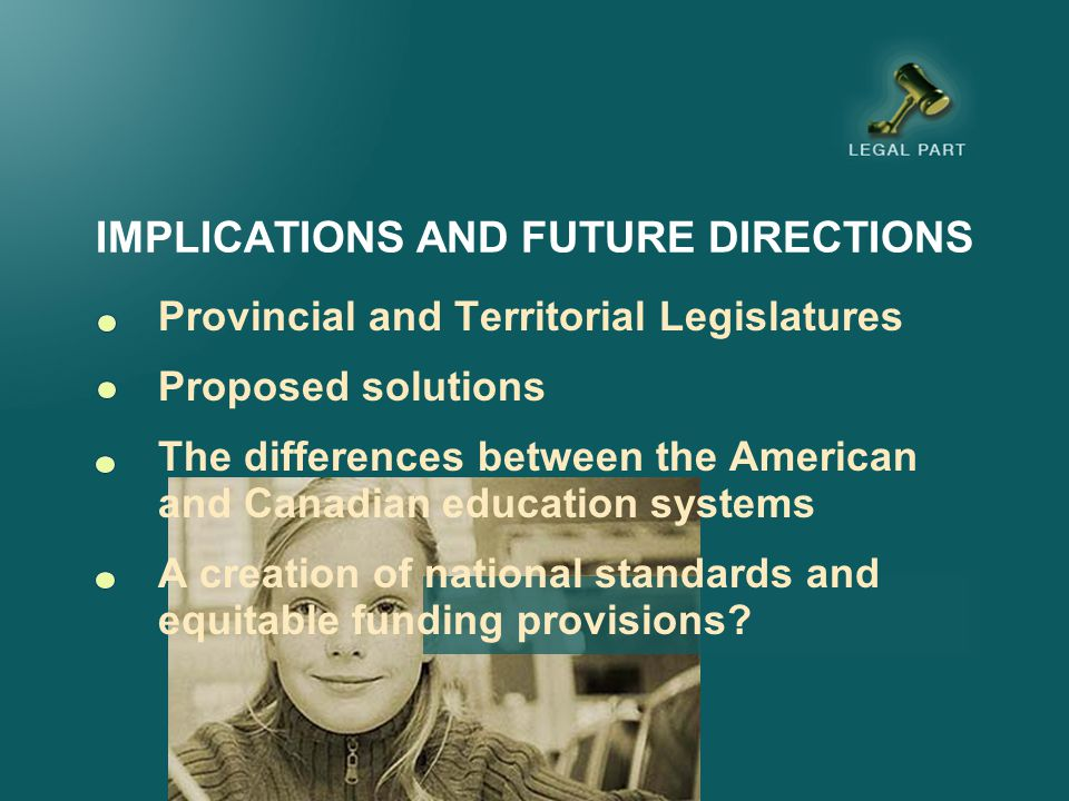 IMPLICATIONS AND FUTURE DIRECTIONS School boards across the country are grappling with the challenges exemplified by the litigation in special education Proposed solutions