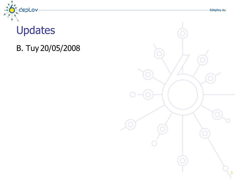 Updates B. Tuy20/05/2008 5