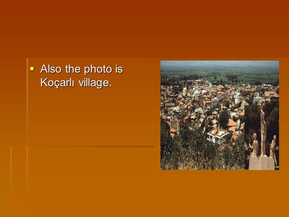  Also the photo is Koçarlı village.