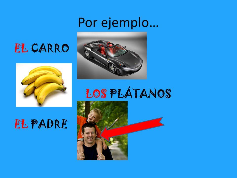 Por ejemplo… EL CARRO LOS PLÁTANOS EL PADRE