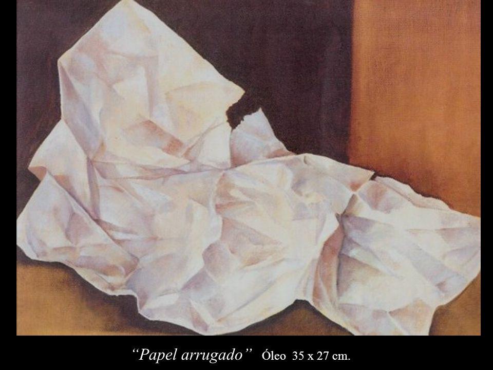 Papel arrugado Óleo 35 x 27 cm.