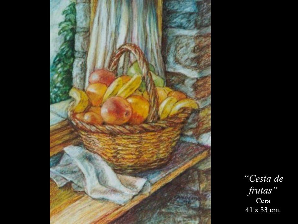 Cesta de frutas Cera 41 x 33 cm.