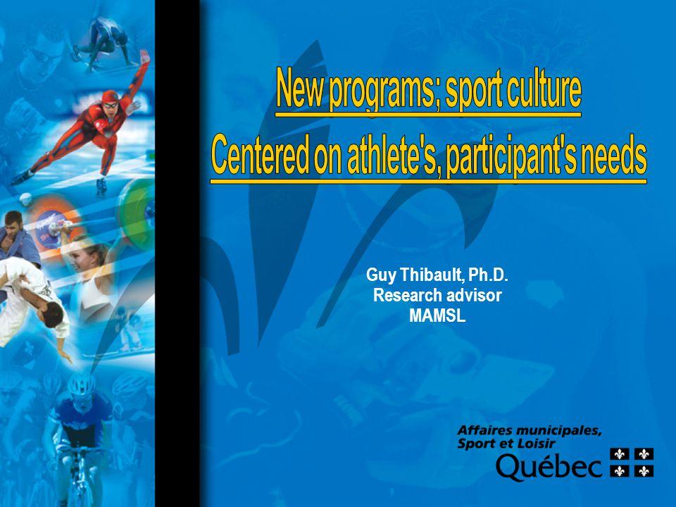 Guy Thibault, Ph.D. Research advisor MAMSL
