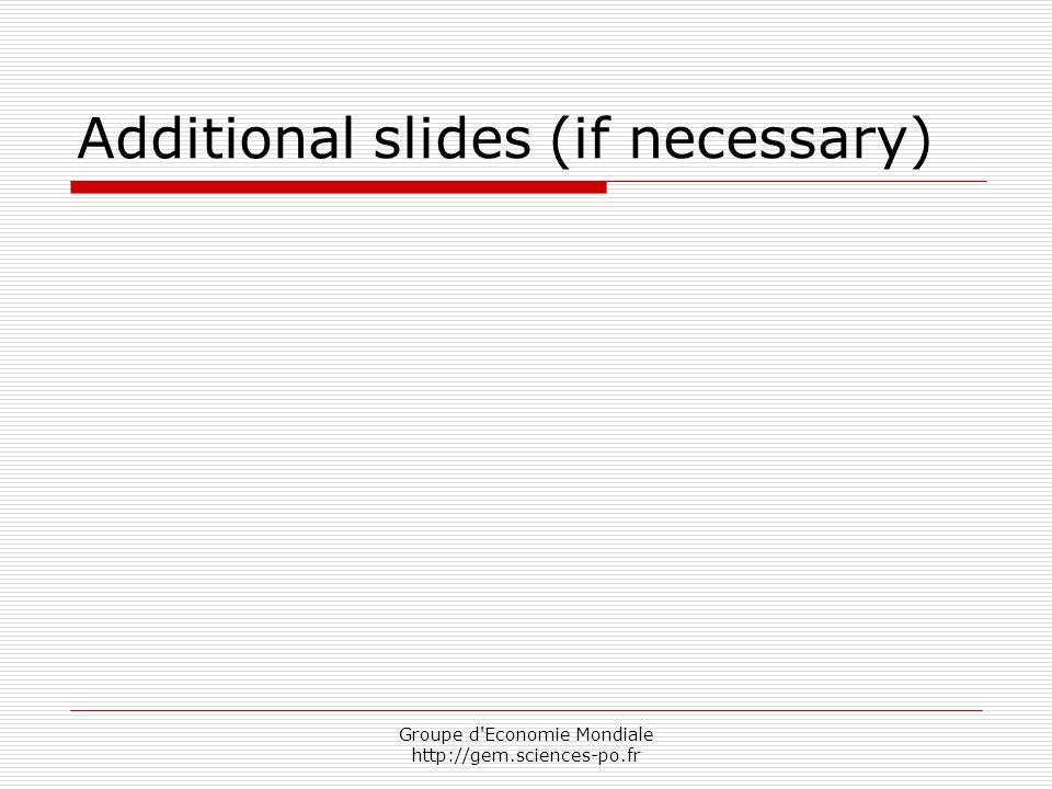 Groupe d'Economie Mondiale http://gem.sciences-po.fr Additional slides (if necessary)
