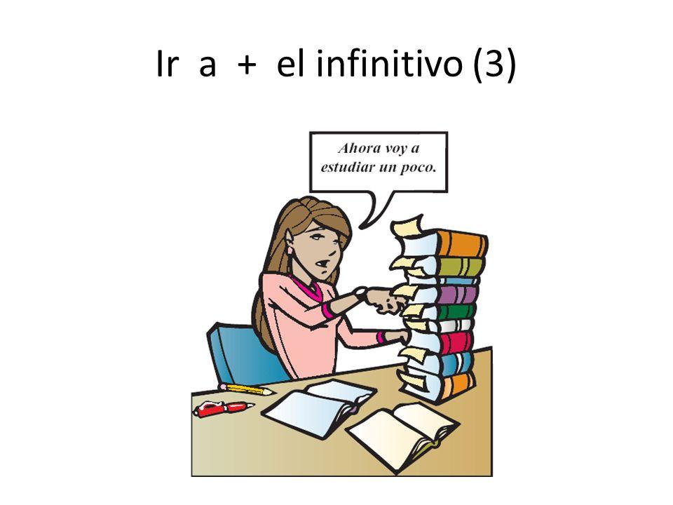 Ir a + el infinitivo (3)