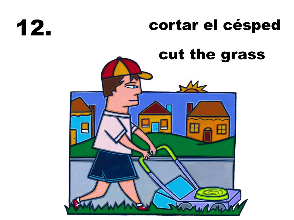 cortar el césped cut the grass 12.