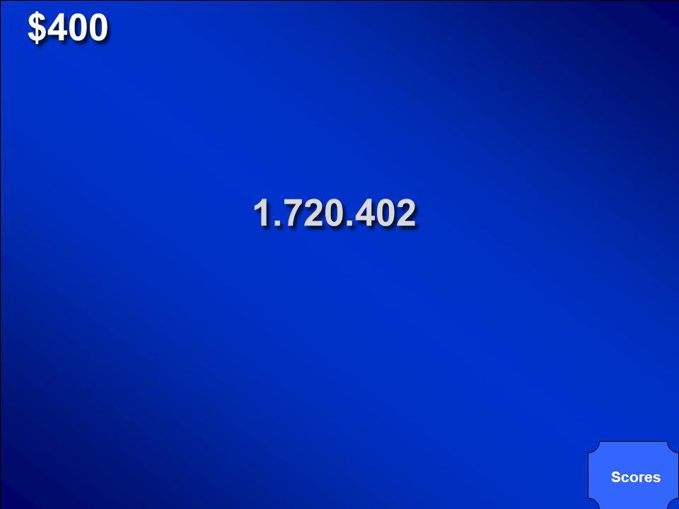 © Mark E. Damon - All Rights Reserved $400 un millón setecientos veinte mil cuatrocientos dos