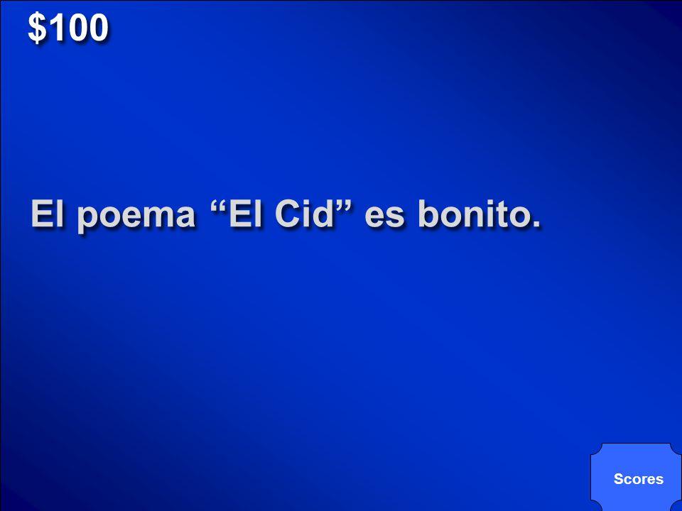 © Mark E. Damon - All Rights Reserved $100 El poema El Cid es bonito