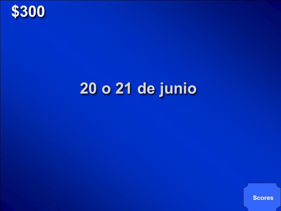 © Mark E. Damon - All Rights Reserved $300 ¿Cuándo/Qué fecha(s) se celebra el Día de San Juan Bautista?