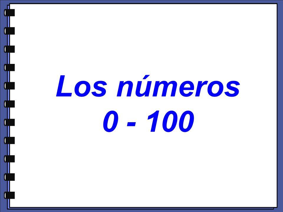 Los números 0 - 100