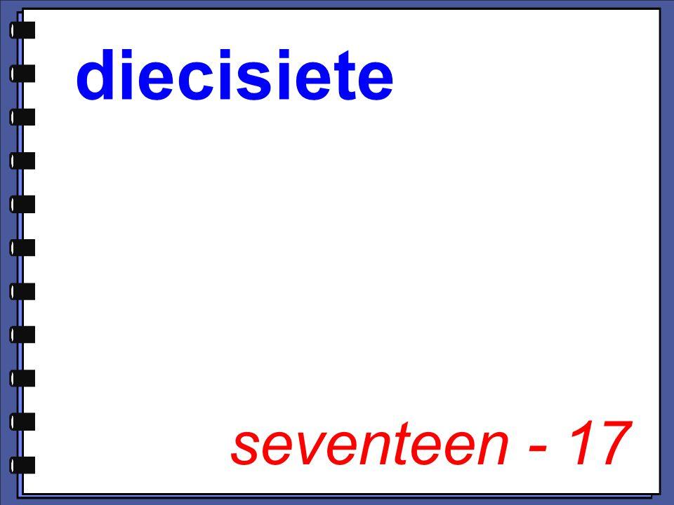 seventeen - 17