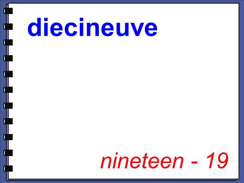 nineteen - 19