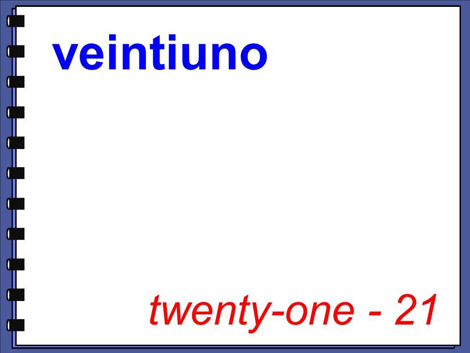 twenty-one - 21