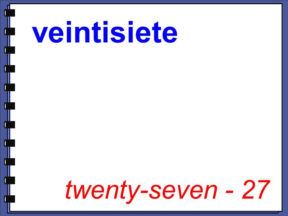 twenty-seven - 27