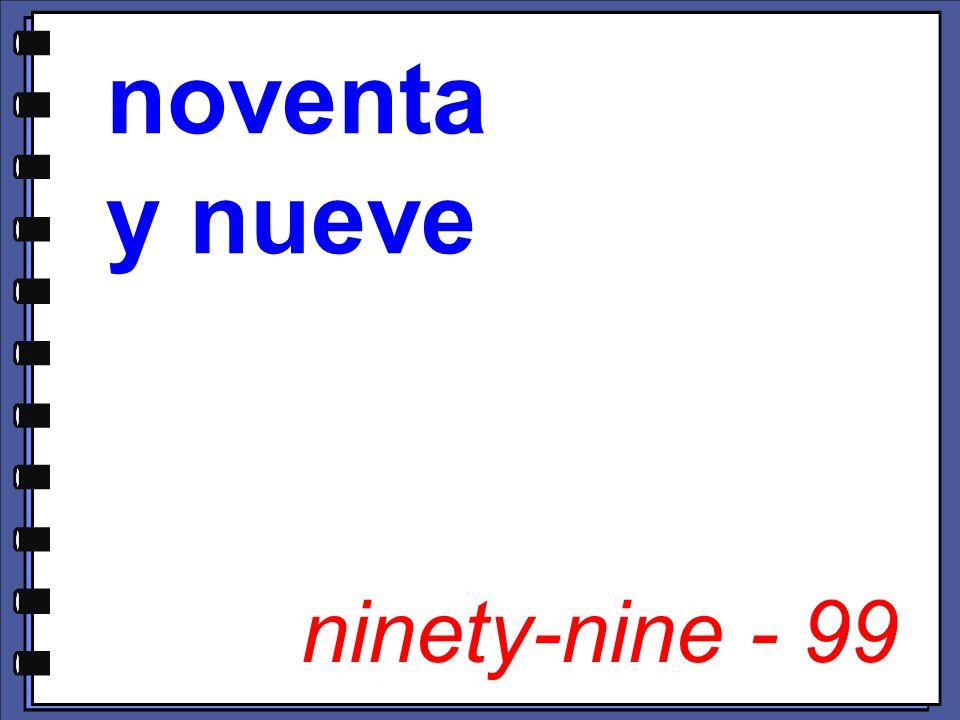 ninety-nine - 99