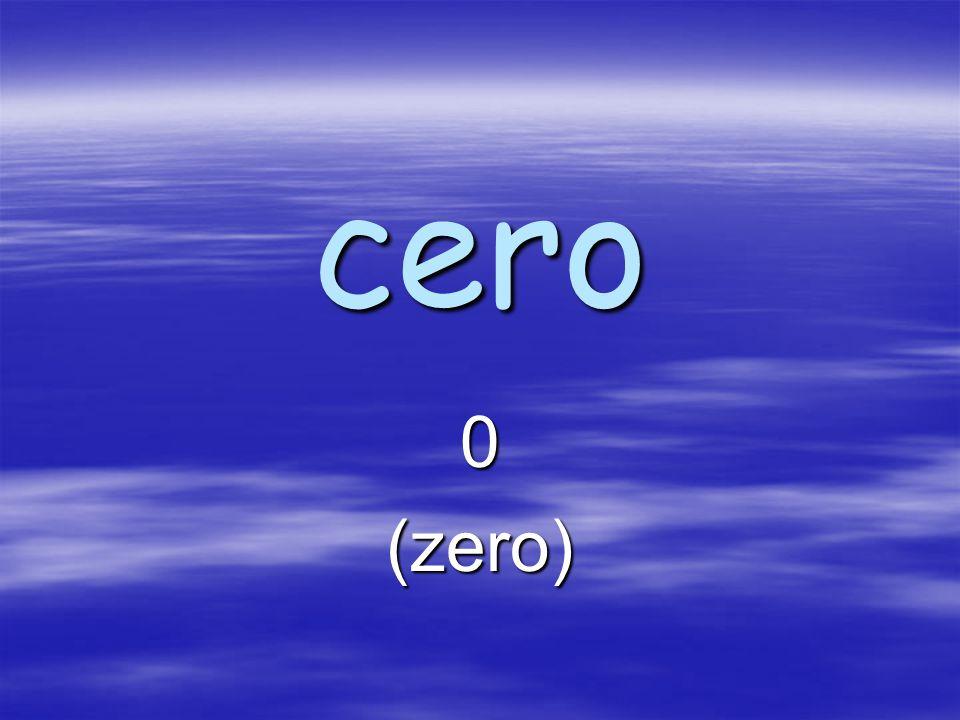 cero 0(zero)