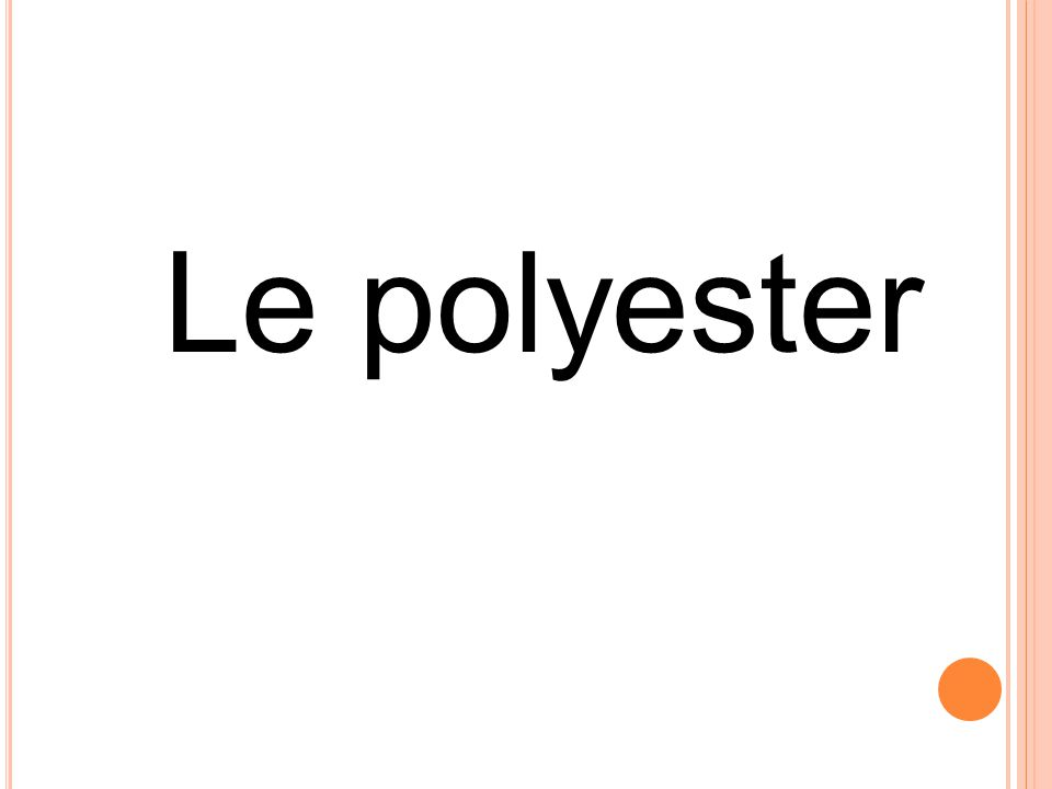 Le polyester