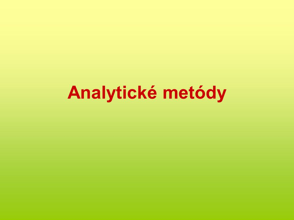 Analytické metódy