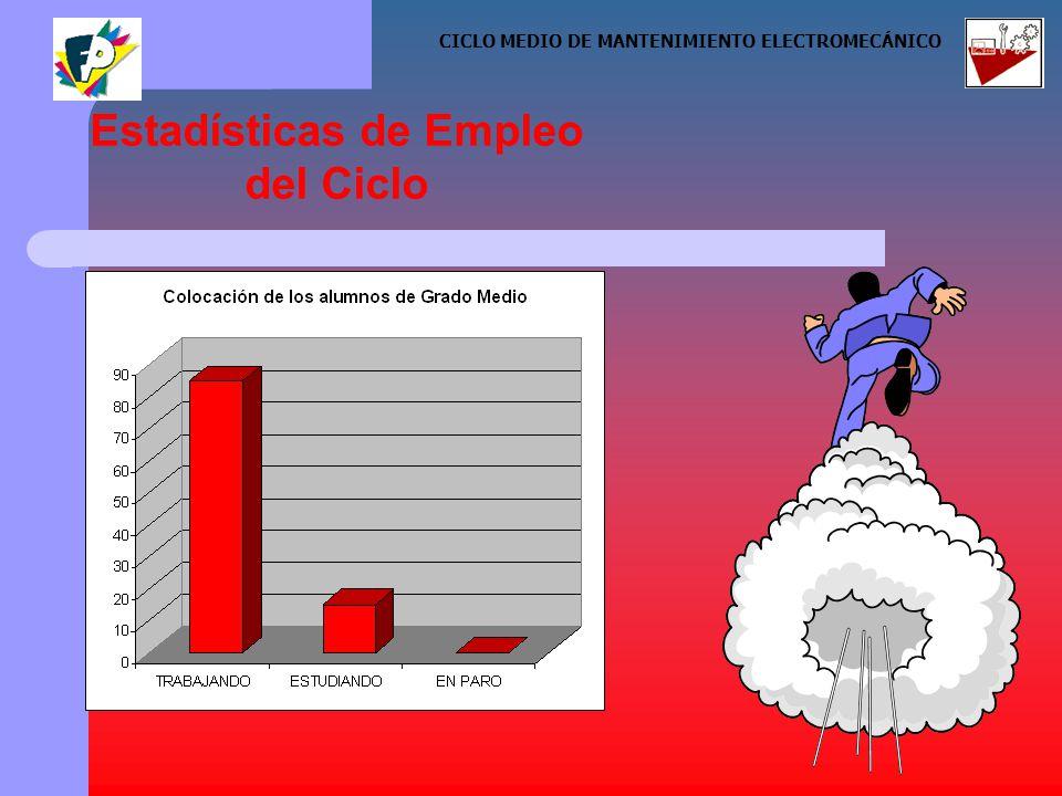 Estadísticas de Empleo del Ciclo CICLO MEDIO DE MANTENIMIENTO ELECTROMECÁNICO