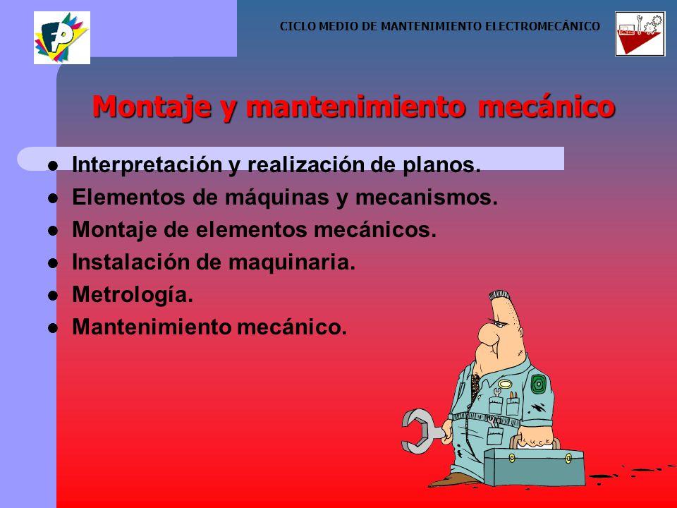 Interpretación y realización de planos. Elementos de máquinas y mecanismos.