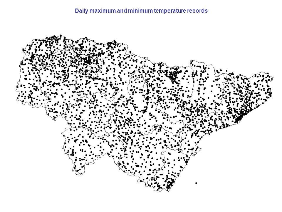 Daily maximum and minimum temperature records