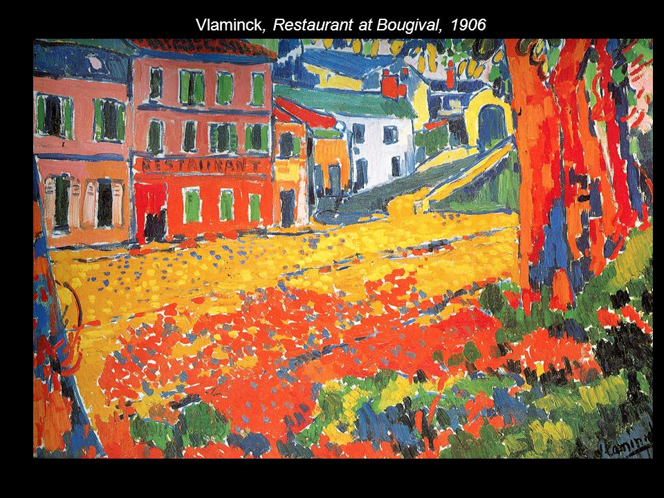 Vlaminck, Restaurant at Bougival, 1906