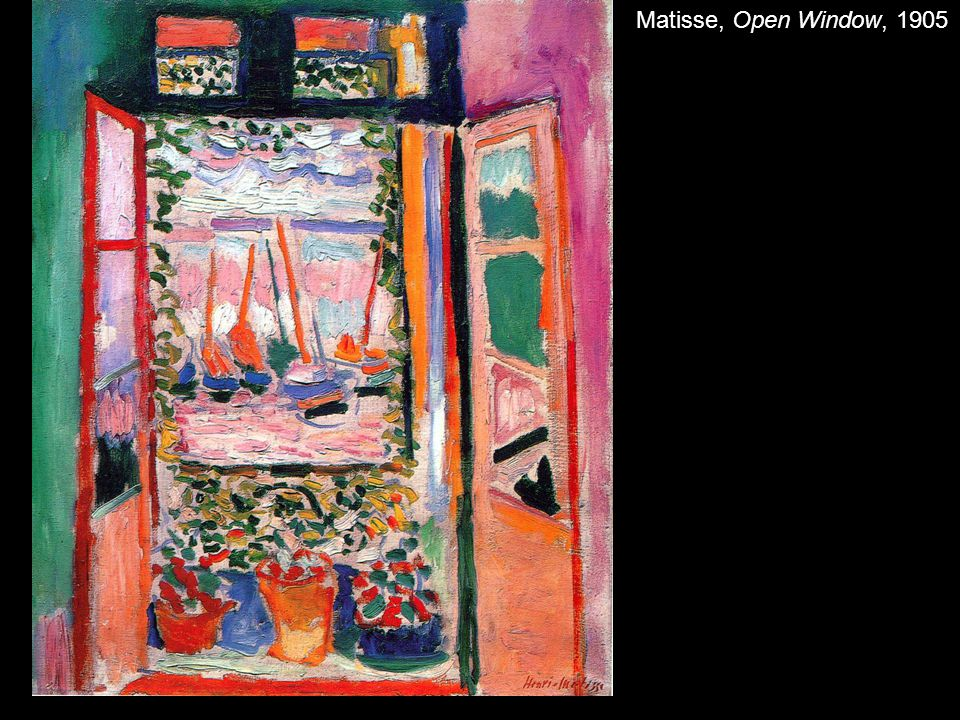 Matisse, Open Window, 1905