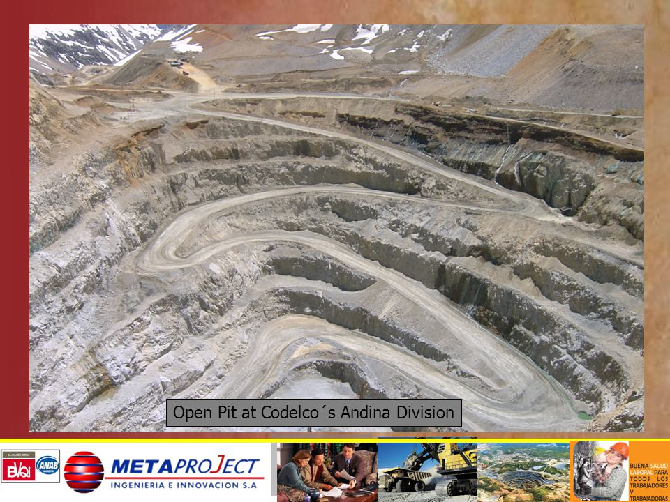 Open Pit at Codelco´s Andina Division
