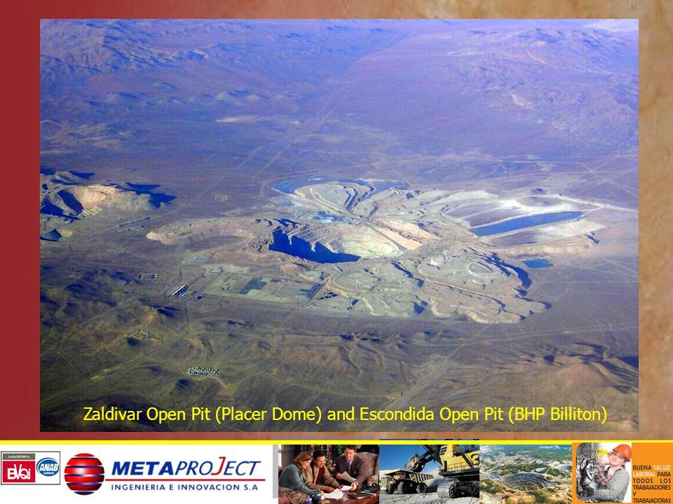 Zaldivar Open Pit (Placer Dome) and Escondida Open Pit (BHP Billiton)