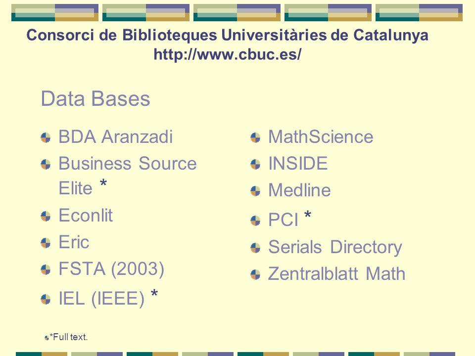 BDA Aranzadi Business Source Elite * Econlit Eric FSTA (2003) IEL (IEEE) * MathScience INSIDE Medline PCI * Serials Directory Zentralblatt Math *Full text.