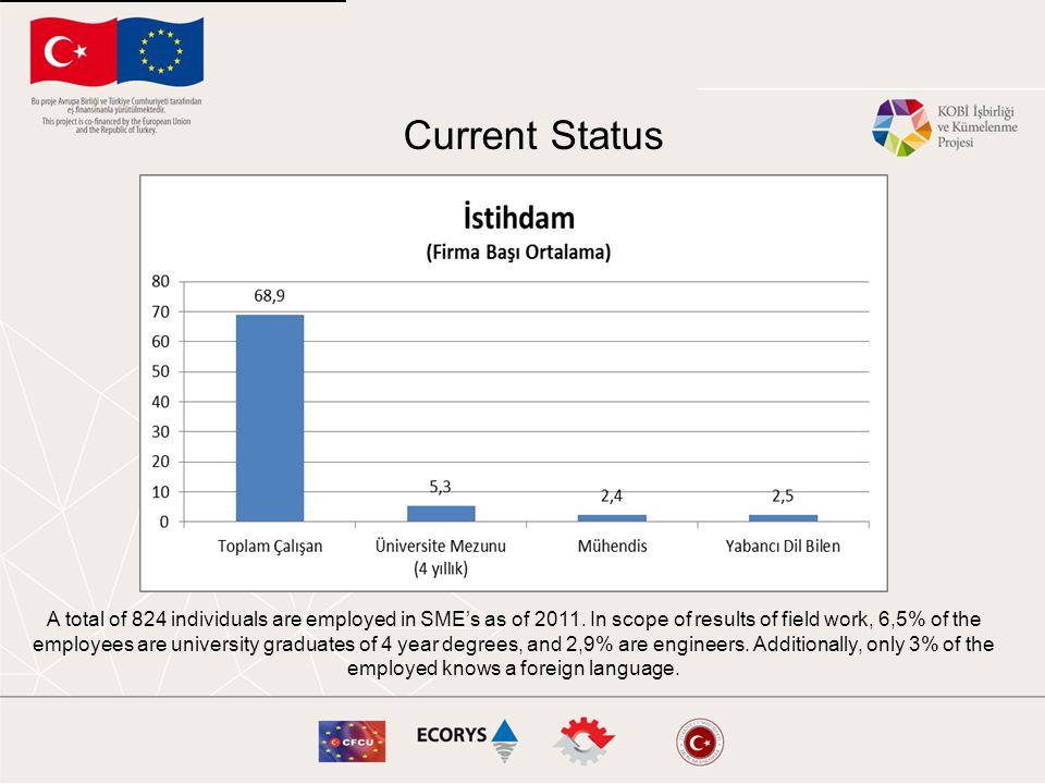 2011 yılı itibariyle SSES'de toplam 824 [1] kişi istihdam edilmektedir.