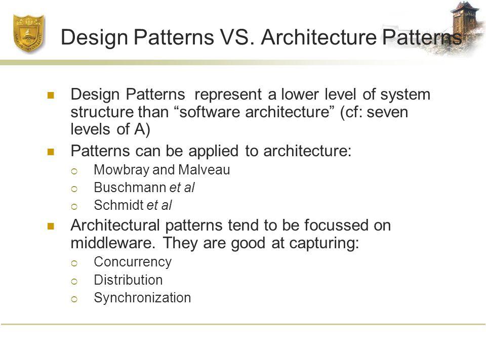 Design Patterns VS.