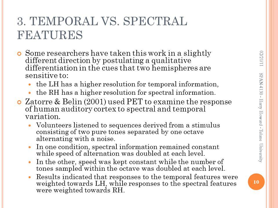3. TEMPORAL VS.