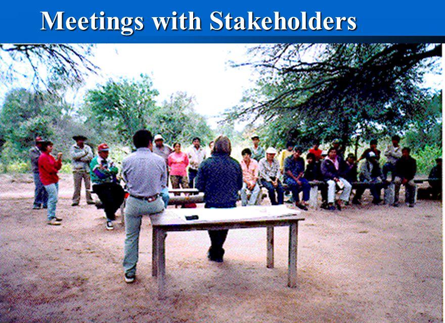 Meetings with Stakeholders