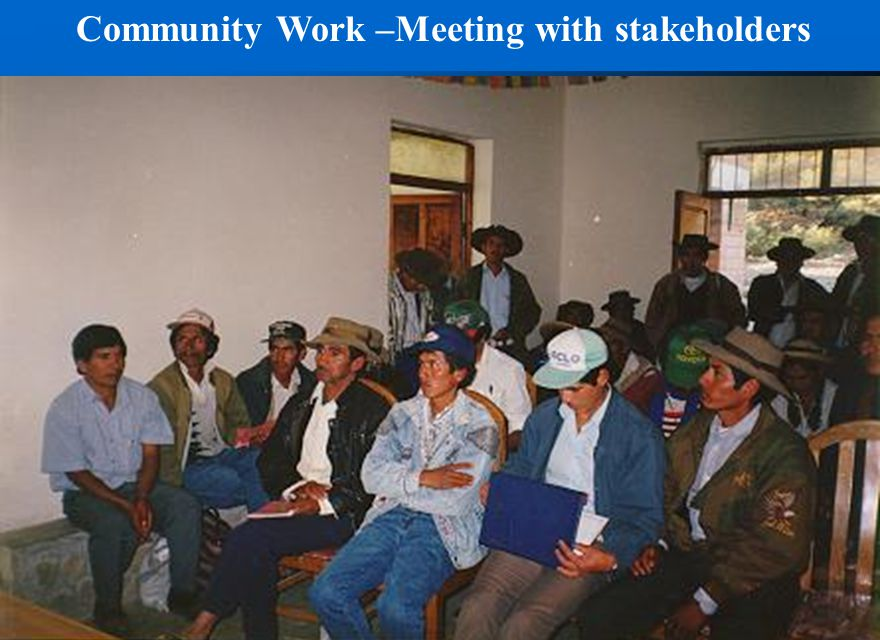 Community Work –Meeting with stakeholders