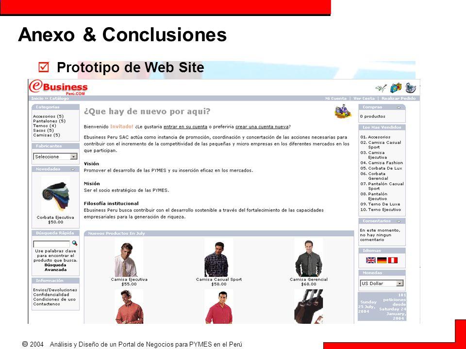  2004 Análisis y Diseño de un Portal de Negocios para PYMES en el Perú Anexo & Conclusiones  Prototipo de Web Site