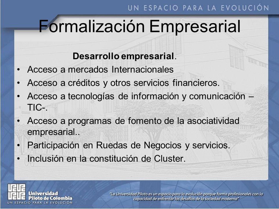 Formalización Empresarial Desarrollo empresarial.