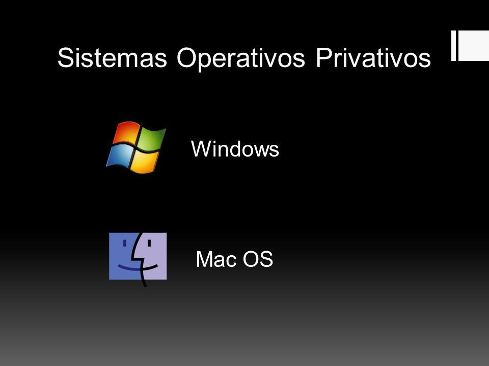 Sistemas Operativos Privativos Windows Mac OS