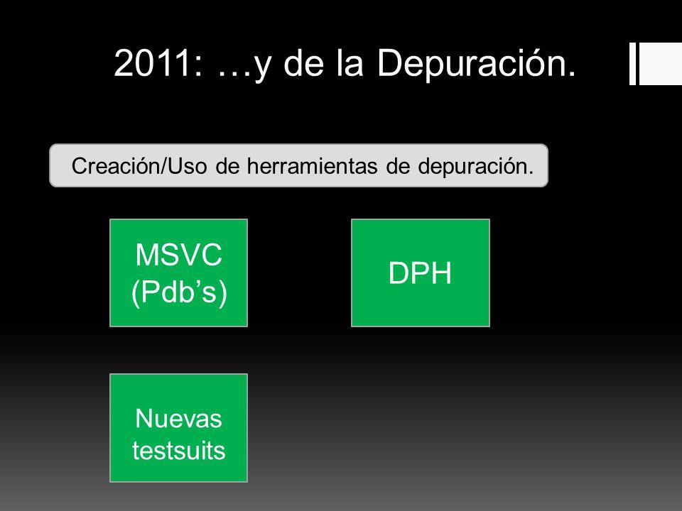 2011: …y de la Depuración. Creación/Uso de herramientas de depuración.